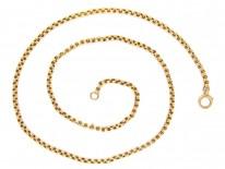 Victorian 9ct Gold 24 Inch Chain