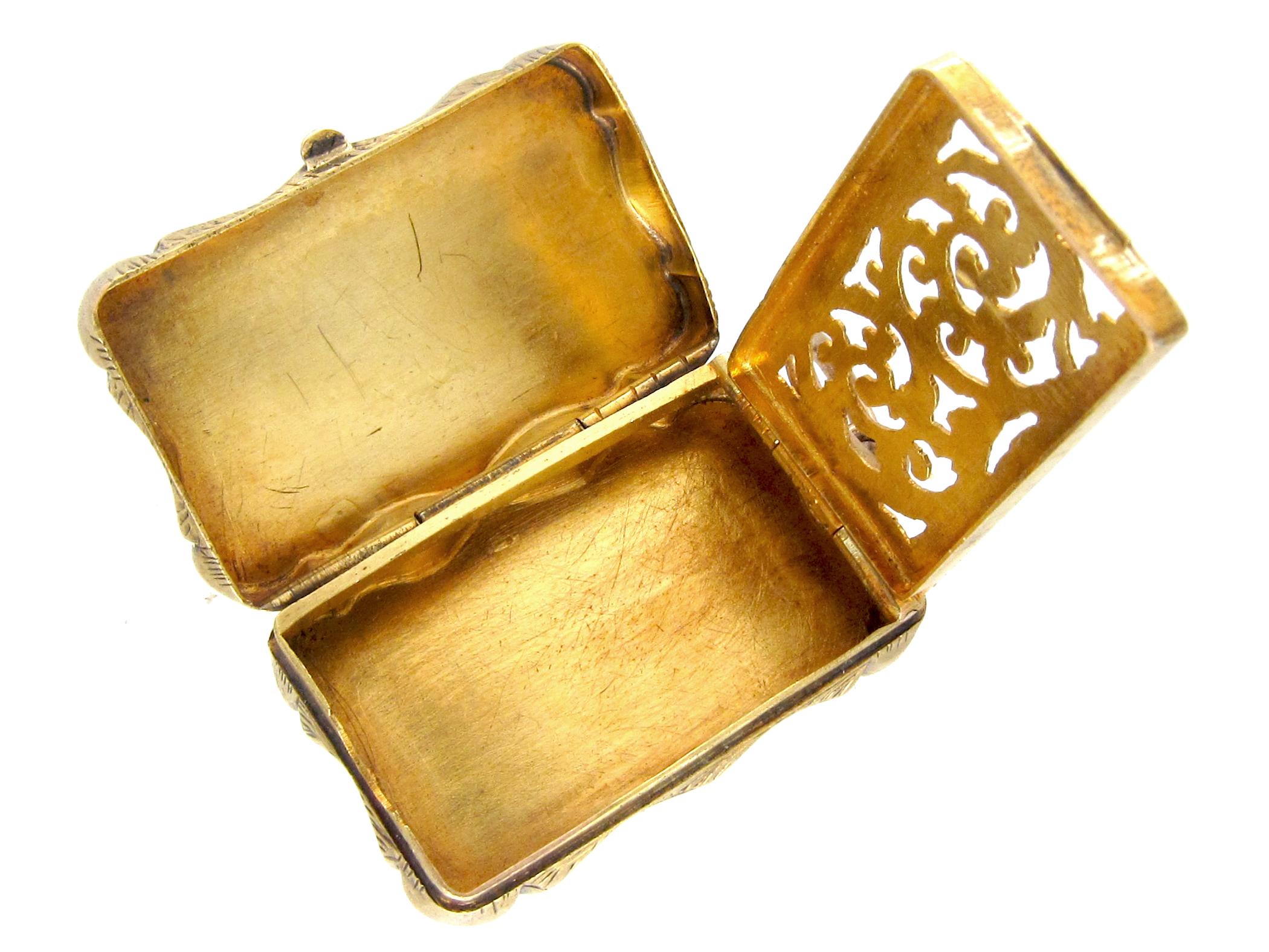 Georgian 15ct Gold Vinaigrette