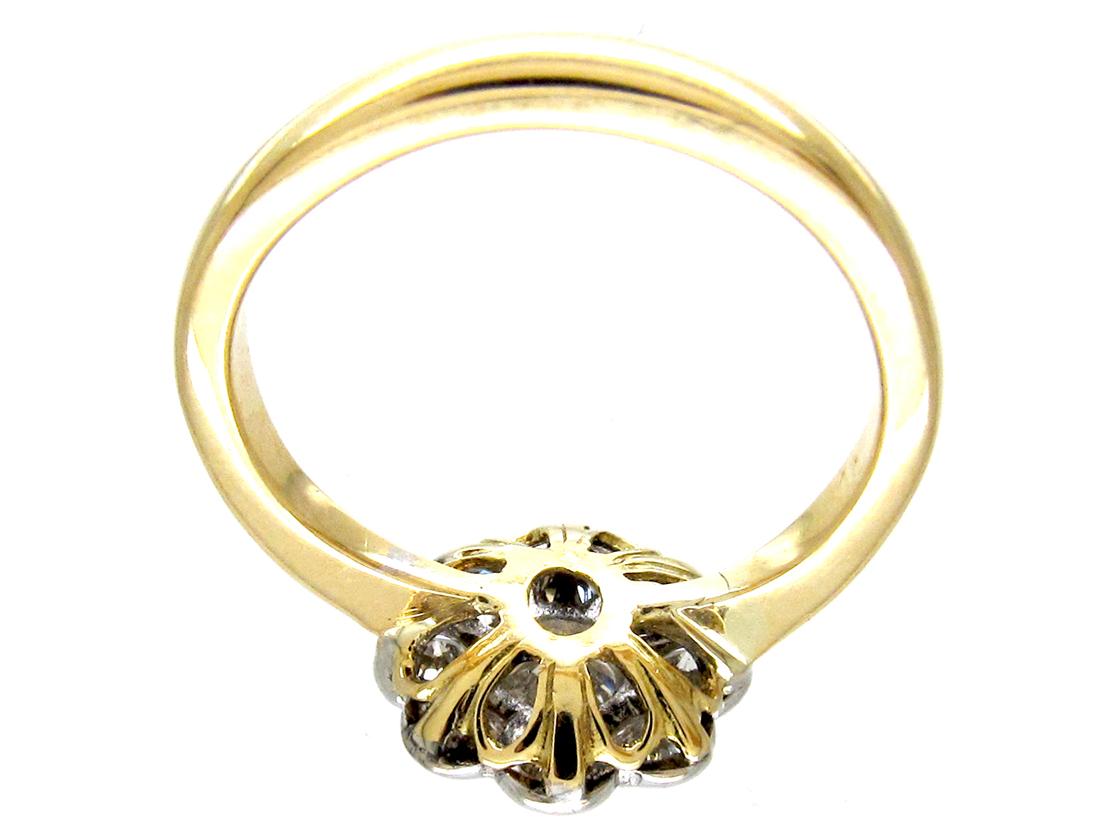 18ct Gold & Platinum Diamond Cluster Ring