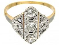 Art Deco Diamond Diamond Shaped Ring