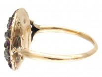 Georgian Almandine Garnet & Diamond Ring