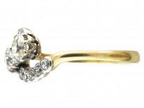 Edwardian Two Diamond Twist Ring