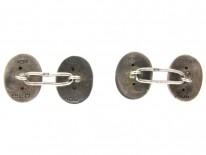 Victorian Silver Curve Design Cufflinks