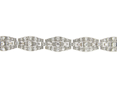 Art Deco Diamond & Platinum Bracelet by Mcteigue & Co