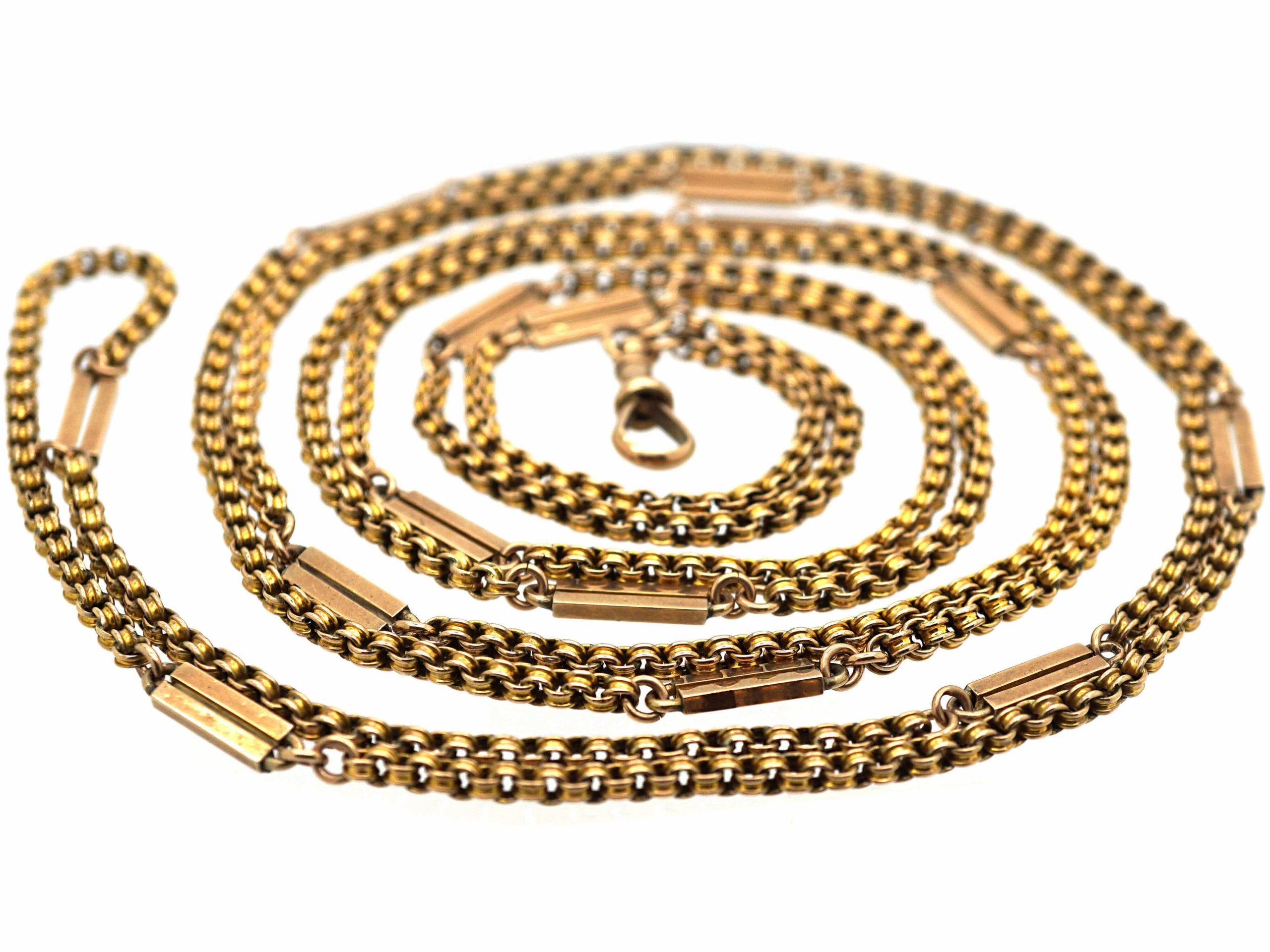 9ct Gold Victorian Guard Chain