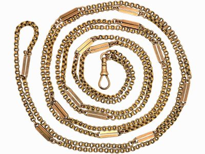 9ct Gold Victorian Guard Chain