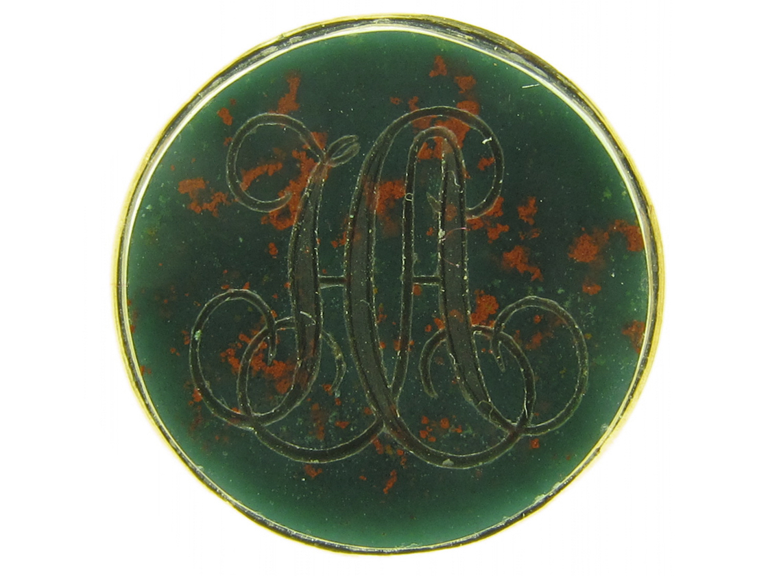 Regency Gold Seal Set with a Bloodstone