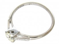 18ct White Gold & Platinum Diamond Solitaire Ring