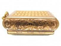 18ct Regency Gold & Moss Agate Vinaigrette