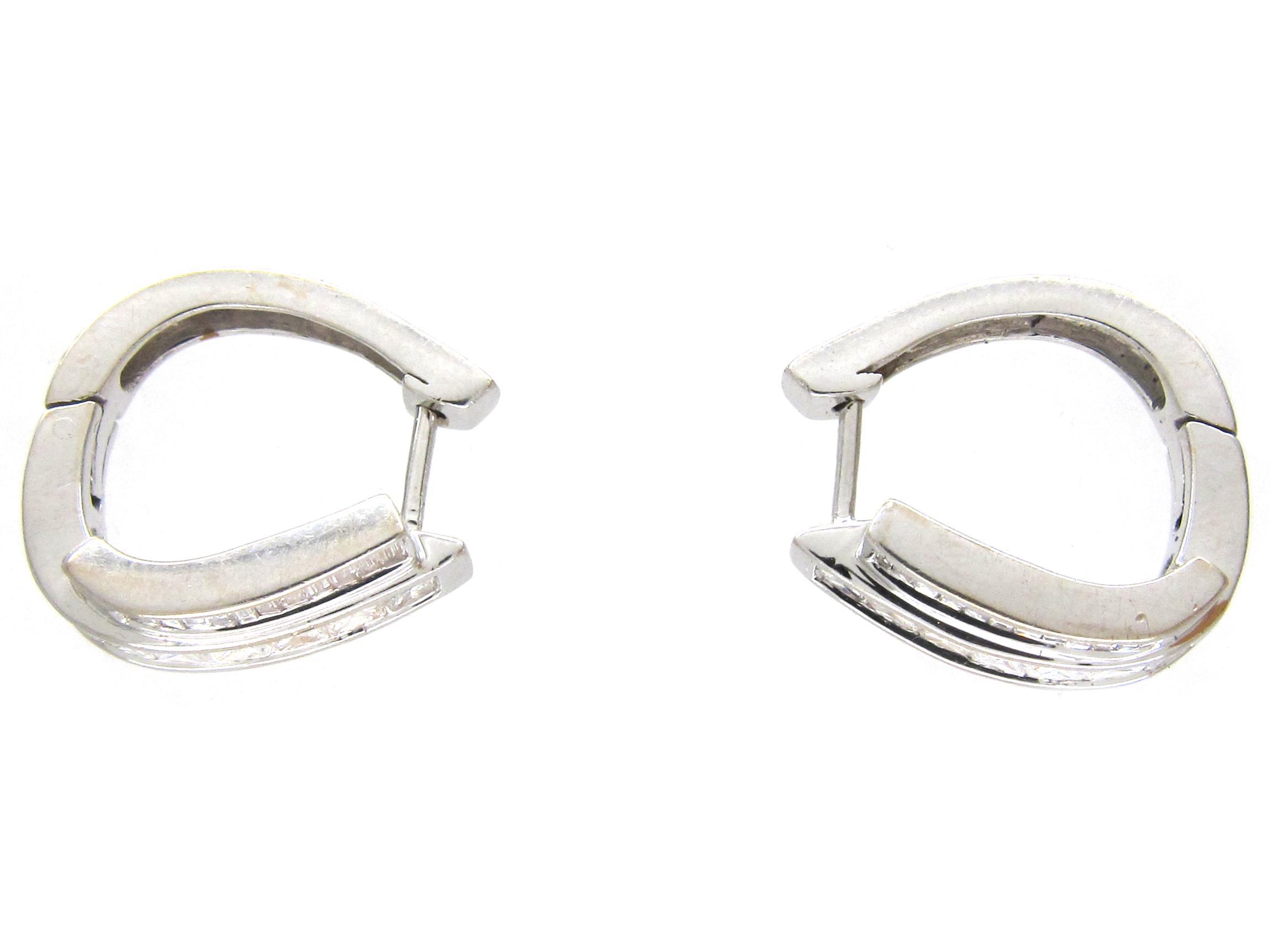 Double Hoop Diamond Earrings