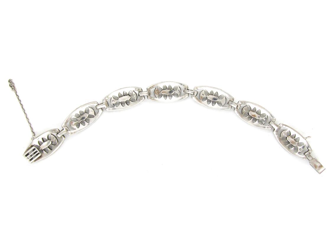 Silver & Paste Art Deco Bracelet