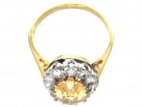Topaz & Diamond Oval Cluster Ring