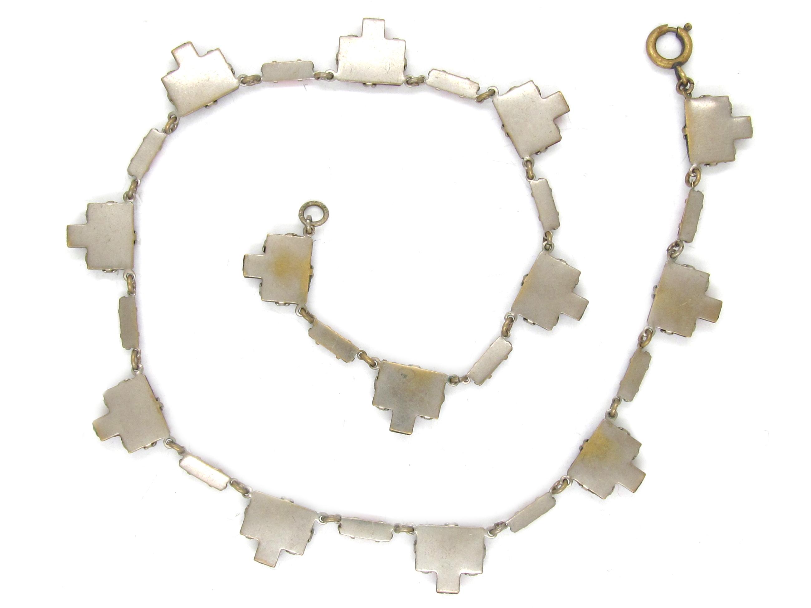 Art Deco Czeckoslovakian Red Glass Necklace