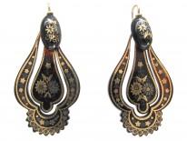 Victorian Tortoiseshell Pique Drop Earrings