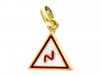 18ct Gold Vintage Traffic Sign Charm