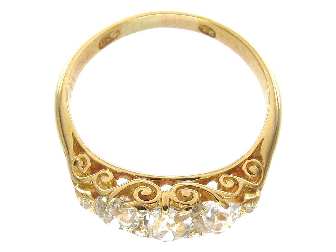 Victorian 3 Stone Diamond Ring