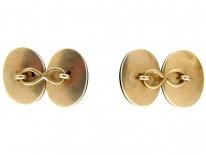 Victorian 15ct Gold Banded Sardonyx Cufflinks