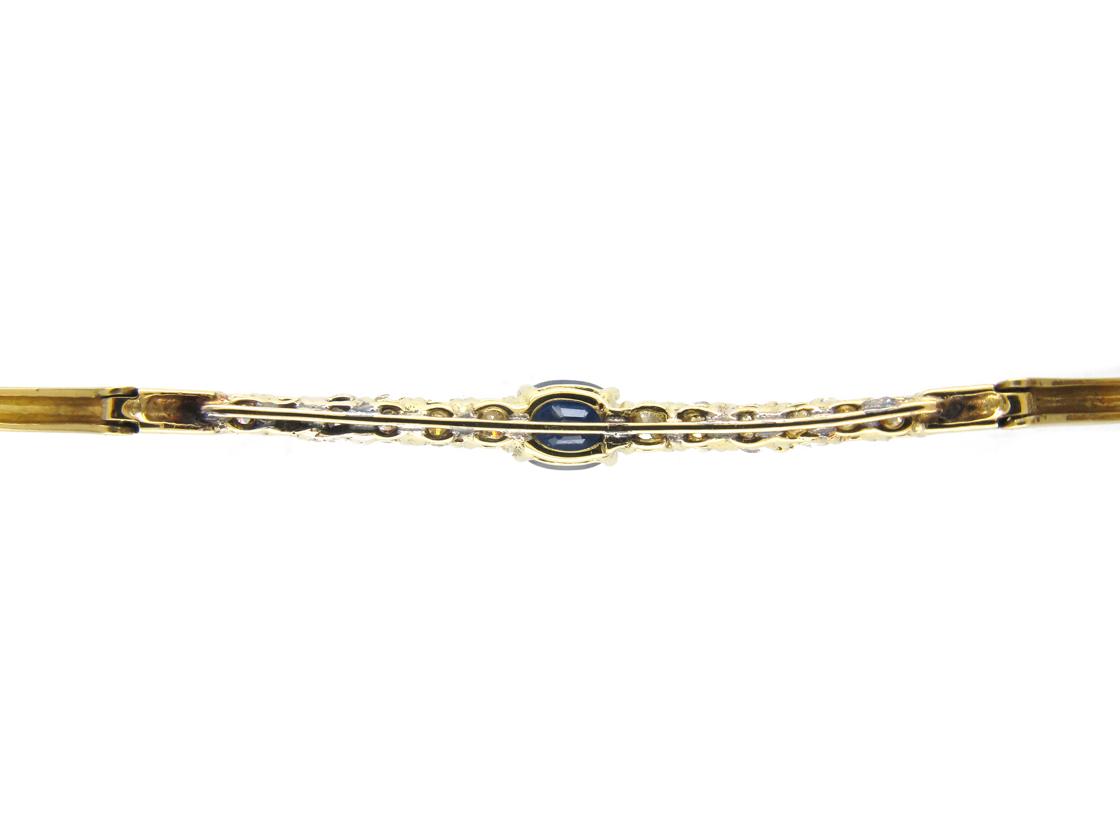 Sapphire & Diamond 18ct Gold Bracelet