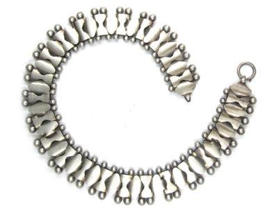 Victorian Wide Silver Collar