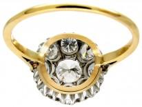 Large Edwardian Diamond Cluster Ring