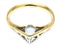 Art Deco Aquamarine & Diamond Ring