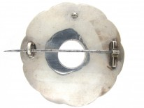 Victorian Scottish Overlapping Circles Silver Brooch