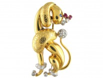 18ct Gold Poodle Dog by Balanche, Monte Carlo