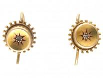 Victorian 15ct Gold & Diamond Stud Earrings Earrings
