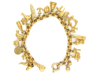 9ct Gold Multi Charm Bracelet