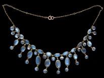 Edwardian 9ct Gold Moonstone Necklace