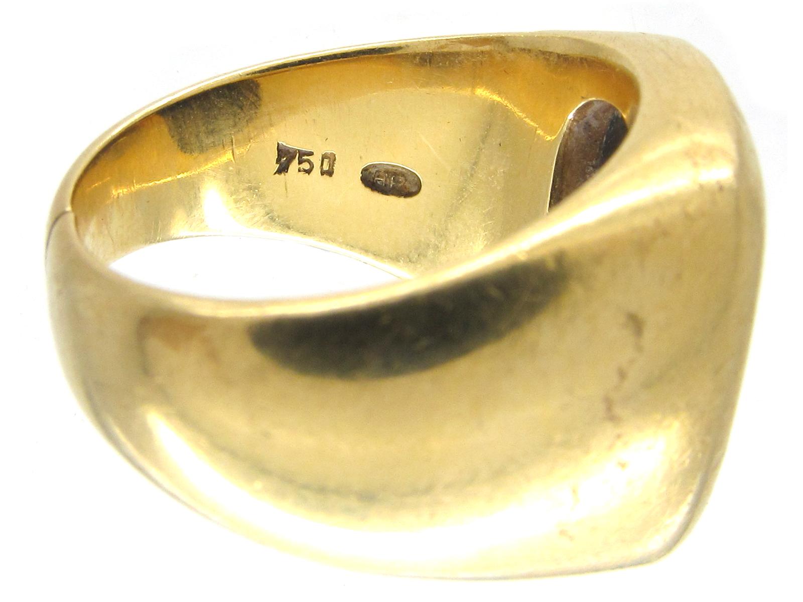 18ct Gold & Sardonyx Intaglio Signet Ring