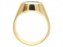 Sardonyx Griffin Intaglio Gold Signet Ring