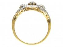 Edwardian Old Mine Cut & Rose Cut Diamond Ring