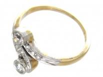 Art Nouveau Diamond Zig Zag Ring