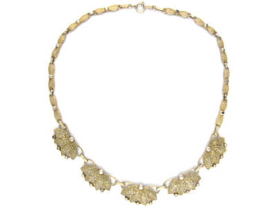 Art Deco Silver Gilt Necklace by Theodor Farhner