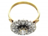 Edwardian Diamond Flower Cluster Ring