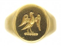 18ct Gold Signet Ring with Eagle Intaglio