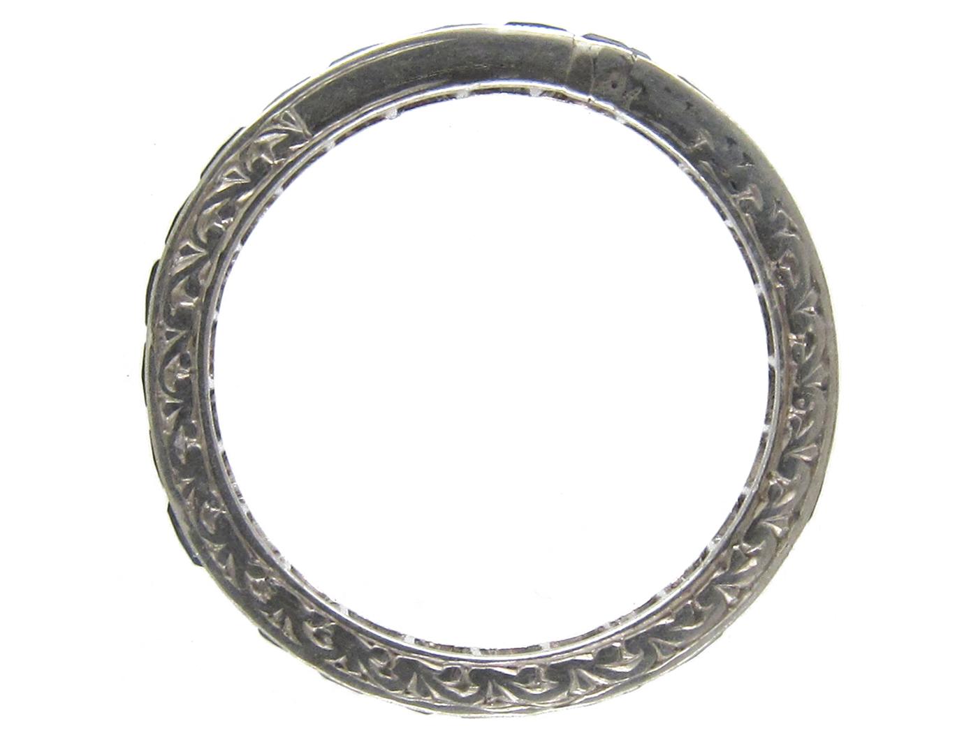 Art Deco Sapphire Eternity Ring