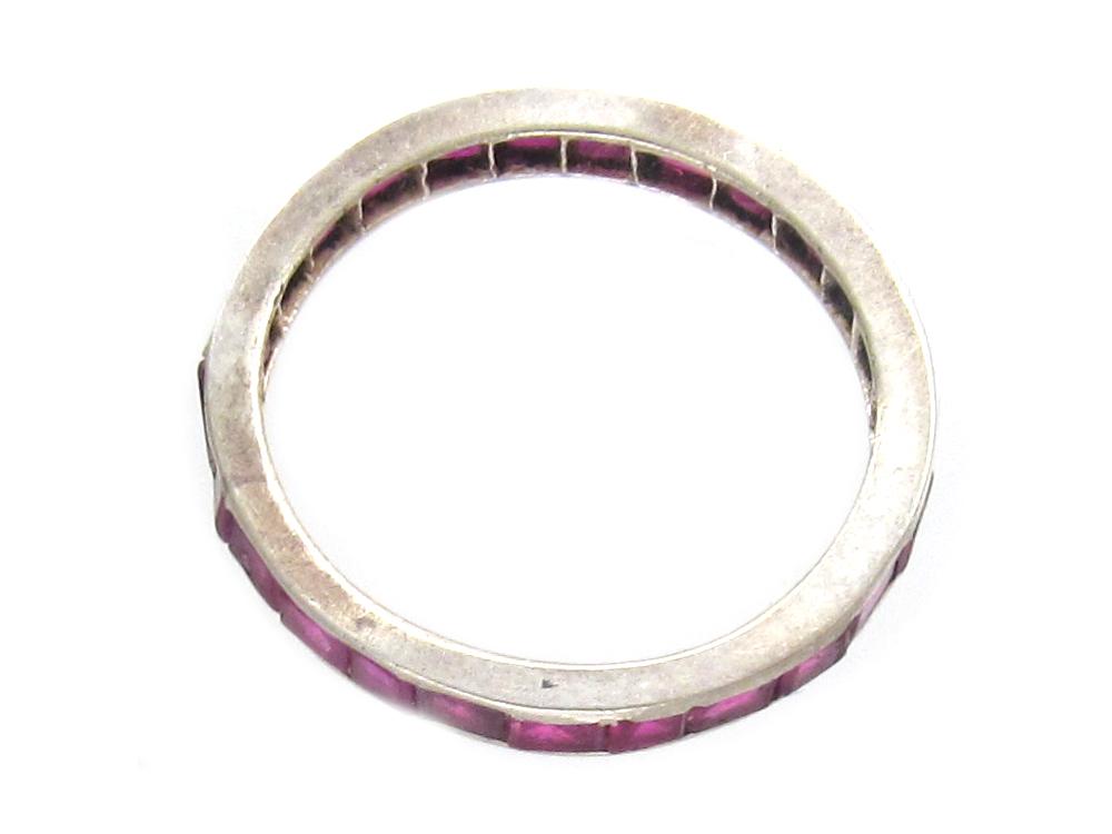 Art Deco Ruby Eternity Ring