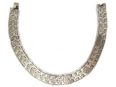 Mexican Indian Design Silver Collar