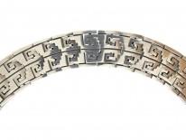 Mexican Indian Design Silver Collar