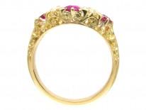 Edwardian Ruby & Diamond Five Stone Ring