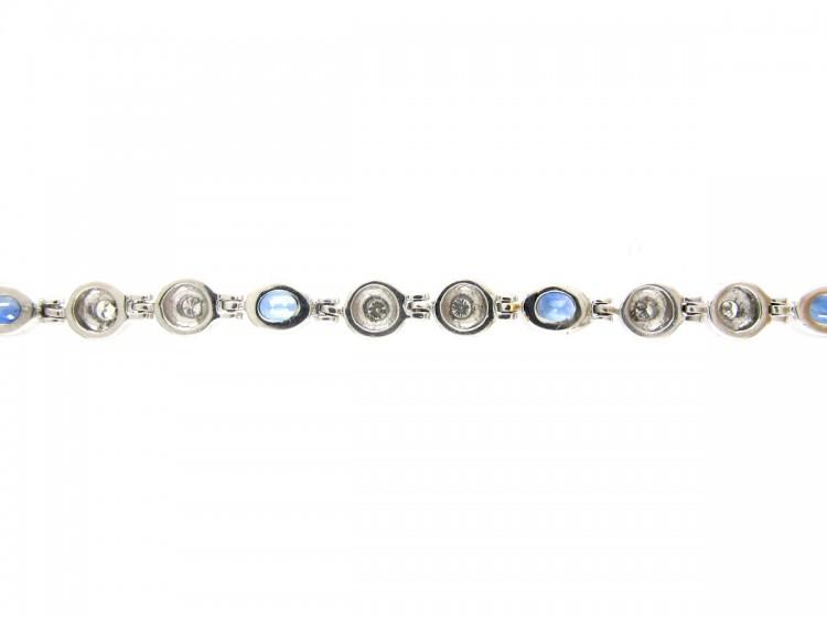 18ct White Gold, Sapphire & Diamond Bracelet