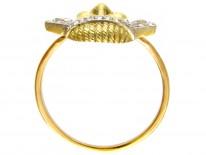 18ct Gold & Diamond Set Theatrical Mask Ring