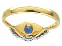Oval Sapphire & Diamond Ring