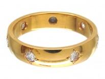 18ct Gold Diamond Set Band Ring
