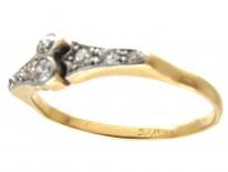 Art Deco 18ct Gold & Platinum & Diamond Set Ring