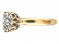 Edwardian Diamond Triple Cluster Ring