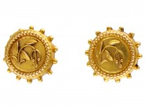 Victorian 15ct Gold Small Stud Earrings