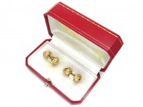 Cartier Three Colour 18ct Gold Knot Cufflinks in Original Case